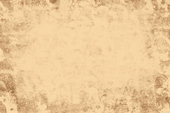 Grunge retro texture light brown frame Royalty Free Stock Images