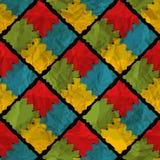 Grunge rhombus seamless pattern Royalty Free Stock Photo