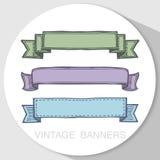 Grunge ribbon banners Royalty Free Stock Image