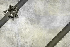 Grunge ribbon and bow Royalty Free Stock Image