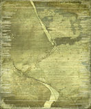 Grunge ripped bamboo paper background Royalty Free Stock Images