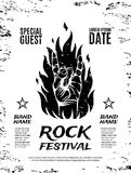 Grunge, rock festival poster Royalty Free Stock Images