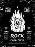 Grunge, rock festival poster Stock Image