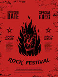 Grunge, rock festival poster Royalty Free Stock Photos