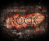 Grunge rock music poster Stock Image
