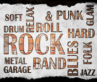 Grunge rock music poster royalty free stock photography
