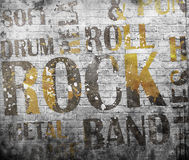 Grunge rock music poster Royalty Free Stock Photo
