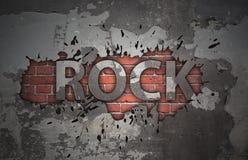 Grunge rock music poster Royalty Free Stock Image