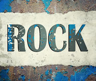 Grunge rock music poster Stock Photos