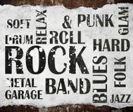 Grunge rock music poster Stock Photo