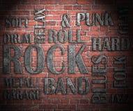 Grunge rock music poster Stock Photos