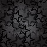 Grunge rock star background. Brush smear stars stock illustration