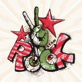 Grunge rockowy plakat Fotografia Stock