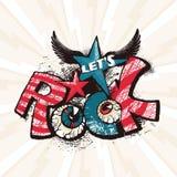 Grunge rockowy plakat Obraz Royalty Free