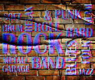 Grunge rockowy plakat obrazy royalty free