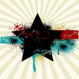 Grunge Rockstar-Hintergrund Stockfotos