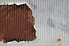 Grunge rocznika metalu talerza ośniedziała tekstura, Zdjęcia Royalty Free