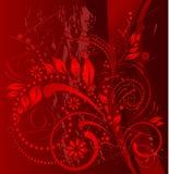 Grunge rojo ilustración del vector