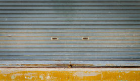 Grunge roll up shutter royalty free stock images