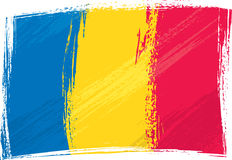 Grunge Romania flag Stock Images