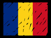 Grunge Romanian flag Stock Image