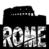 Grunge Rome with Colosseum royalty free illustration