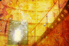 Grunge room. Grunge background of the inside of a lighthouse royalty free stock photography