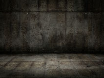 Grunge room. Very high resolution 3d rendering of a grunge metal room Stock Images