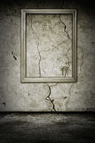 Grunge room with wooden frame Royalty Free Stock Images