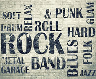 Grunge roomGrunge rock poster Stock Images