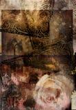 Grunge Rose Composition vector illustration