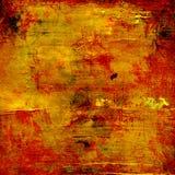 Grunge rosso dell'oro Fotografie Stock Libere da Diritti