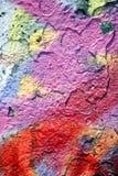 Grunge rosso e viola della vernice Fotografia Stock