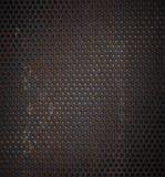 Grunge rostiger Metallrasterfeldhintergrund Stockbilder