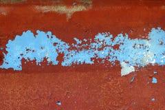 Grunge roter und blauer gealterter Wandbeschaffenheitshintergrund Stockfoto
