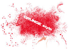 Grunge rouge Images stock
