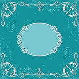 Grunge rough background. Calligraphicdecorative frame Stock Photo
