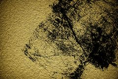 Grunge Rough concrete neutral ultra yellow texture, stone surface, cement background.  Royalty Free Stock Photo