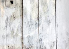 Grunge Rough White Texture of Old weathered Wooden Plank. Design and Vintage Pattern royalty free stock photo