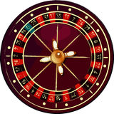 Grunge roulette wheel Stock Photos
