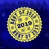 Rubber BEST OF 2019 Stamp Seal on Winter Background vector illustration