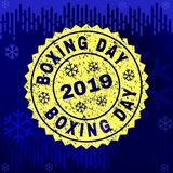 Grunge BOXING DAY Stamp Seal on Winter Background royalty free illustration