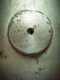 Grunge Round button metal royalty free stock photo