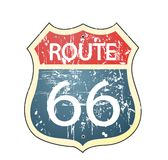 Grunge Route 66 Roadsign Stock Images