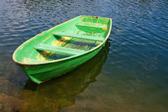 Grunge rowing boat Royalty Free Stock Images