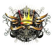 Grunge Royal crown vector with blot Royalty Free Stock Photos