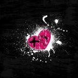 Grunge roze hart Stock Afbeelding
