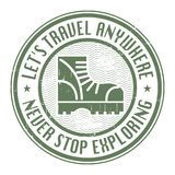 Grunge rubber abstract travel stamp Royalty Free Stock Photography