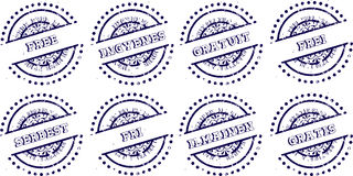 Grunge rubber ink stamp set - FREE Stock Photography