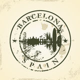 Grunge rubber stamp with Barcelona, Spain Royalty Free Stock Images